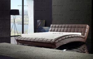 Кровать кожаная AY197