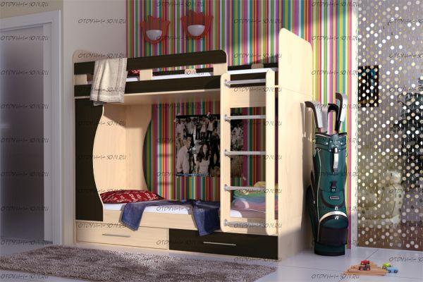 Кровать двухъярусная Карлсон Дуэт-1  (14.711)