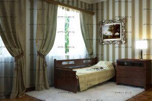 Кровать Тахта 2 Массив (Оттомано Дуо) с 2 ящиками DreamLine