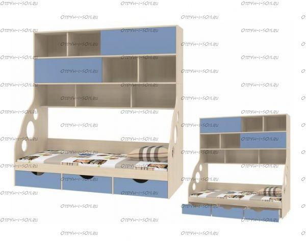 Кровать с антресолью Дельта 21.12 (90х190)