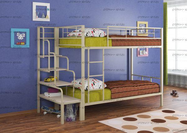 Кровать двухъярусная Севилья-2 с лестницей