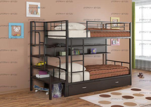 Кровать двухъярусная Севилья-2 ПЯ + лестница