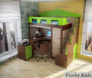 Кровать-чердак Фанки Хоум-11004